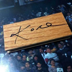 Kobe Bryant Signed Lakers 2×5 wood panel cut